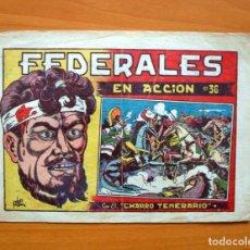 Tebeos: EL CHARRO TEMERARIO, Nº 36 FEDERALES EN ACCIÓN - EDITORIAL GRAFIDEA 1953. Lote 70062817