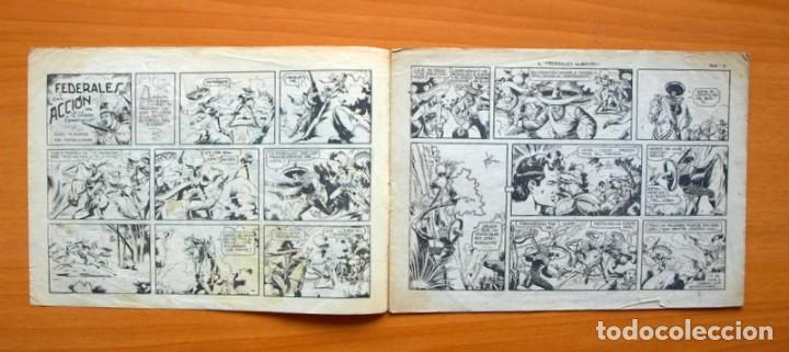 Tebeos: El charro temerario, nº 36 Federales en acción - Editorial Grafidea 1953 - Foto 2 - 70062817