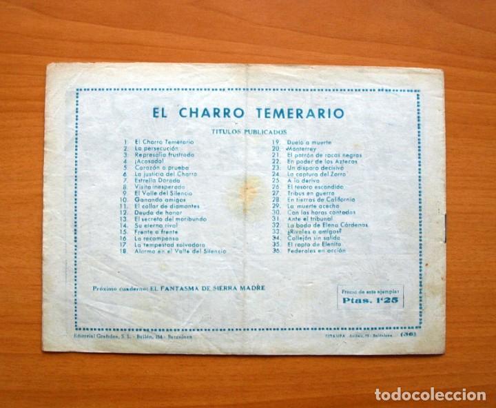 Tebeos: El charro temerario, nº 36 Federales en acción - Editorial Grafidea 1953 - Foto 5 - 70062817
