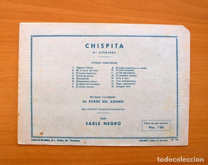 Tebeos: Chispita 8ª - nº 16 Latigazo fatal- Editorial Grafidea 1956 - Foto 5 - 70064557