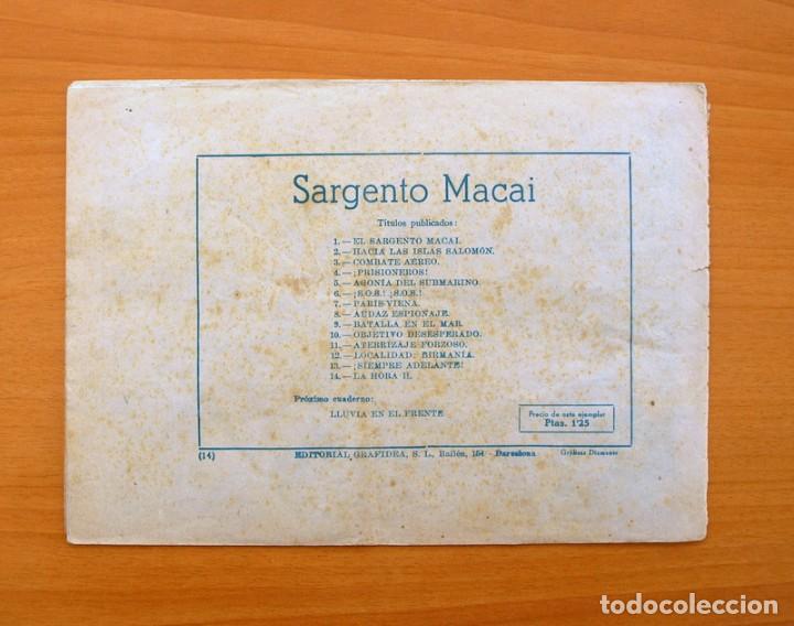 Tebeos: Sargento Macai, nº 14 La hora H - Editorial Grafidea 1952 - Foto 5 - 70066481