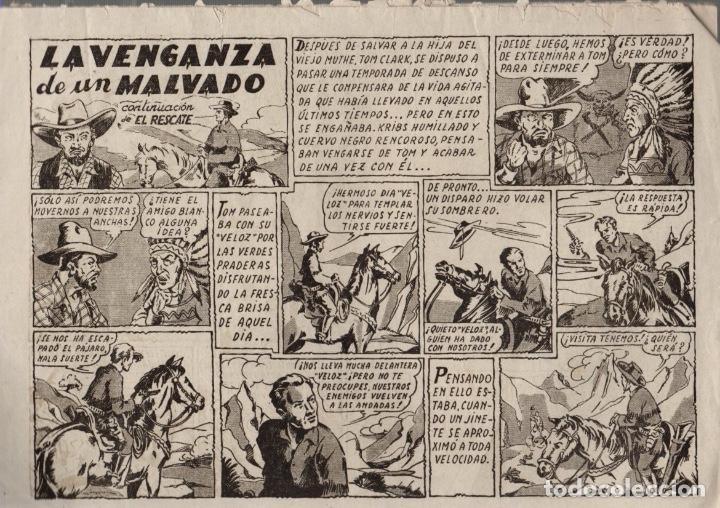 Tebeos: TOM CLARK. LA VENGANZA DE UN MALVADO. Nº 6. EDITORIAL GRAFIDEA. AÑOS 40. ORIGINAL - Foto 2 - 74970759