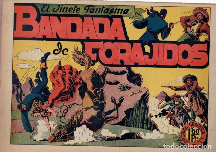 EL JINETE FANTASMA. BANDADA DE FORAJIDOS. ORIGINAL. AÑOS 40 (Tebeos y Comics - Grafidea - El Jinete Fantasma)