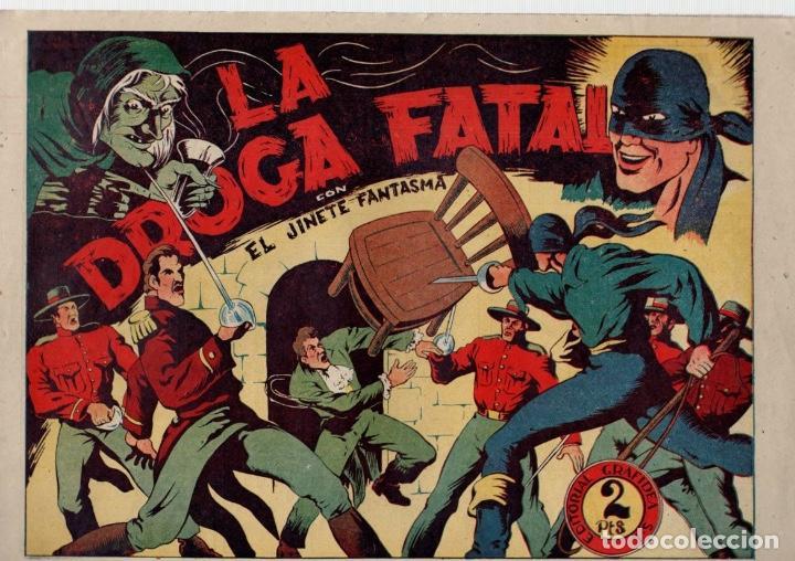 LA DROGA FATAL. EL JINETE FANTASMA. ORIGINAL GRAFIDEA. AÑOS 40 (Tebeos y Comics - Grafidea - El Jinete Fantasma)