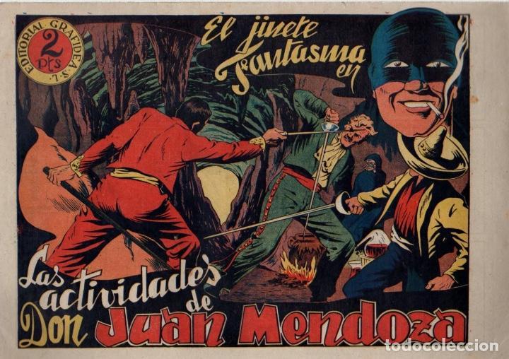 LAS ACTIVIDADES DE DON JUAN MENDOZA. EL JINETE FANTASMA. ORIGINAL GRAFIDEA. AÑO 1947 (Tebeos y Comics - Grafidea - El Jinete Fantasma)