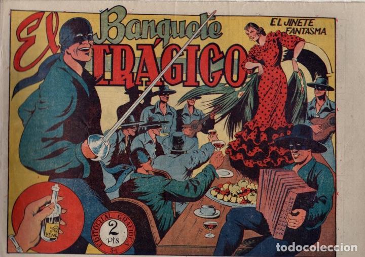 EL BANQUETE TRÁGICO. EL JINETE FANTASMA. ORIGINAL GRAFIDEA. AÑO 1947 (Tebeos y Comics - Grafidea - El Jinete Fantasma)