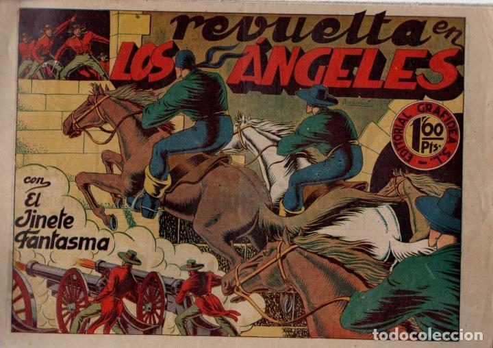 REVUELTA EN LOS ANGELES. Nº 27. EL JINETE FANTASMA. ORIGINAL GRAFIDEA. AÑO 1947 (Tebeos y Comics - Grafidea - El Jinete Fantasma)