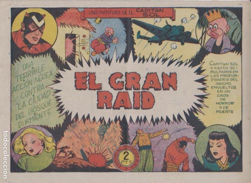 EL CAPITÁN SOL Nº 7. EL GRAN RAID. GRAFIDEA 1948. (21,5X31,5) DIFICIL ASÍ.... (Tebeos y Comics - Grafidea - Otros)