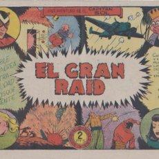 Tebeos: EL CAPITÁN SOL Nº 7. EL GRAN RAID. GRAFIDEA 1948. (21,5X31,5) DIFICIL ASÍ..... Lote 101197563