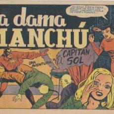 Tebeos: EL CAPITÁN SOL Nº .LA DAMA MANCHÚ. GRAFIDEA 1948. (21,5X31,5) MUY DIFICIL..... Lote 101198211