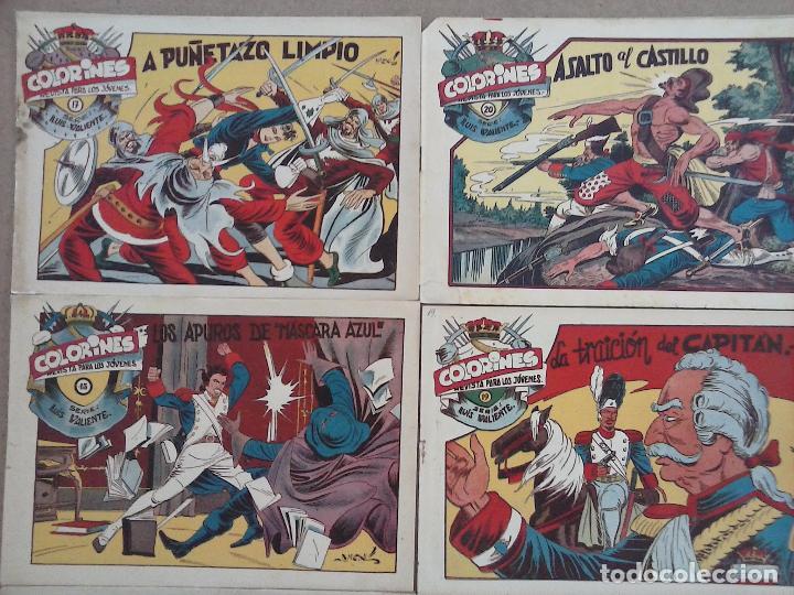 Tebeos: LUIS VALIENTE ORIGINAL COMPLETA - 1 AL 24 GRAFIDEA 1957, VER TODAS LAS PORTADAS - Foto 5 - 105121827