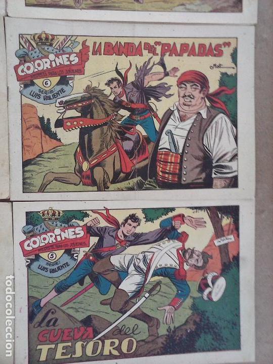 Tebeos: LUIS VALIENTE ORIGINAL COMPLETA - 1 AL 24 GRAFIDEA 1957, VER TODAS LAS PORTADAS - Foto 7 - 105121827