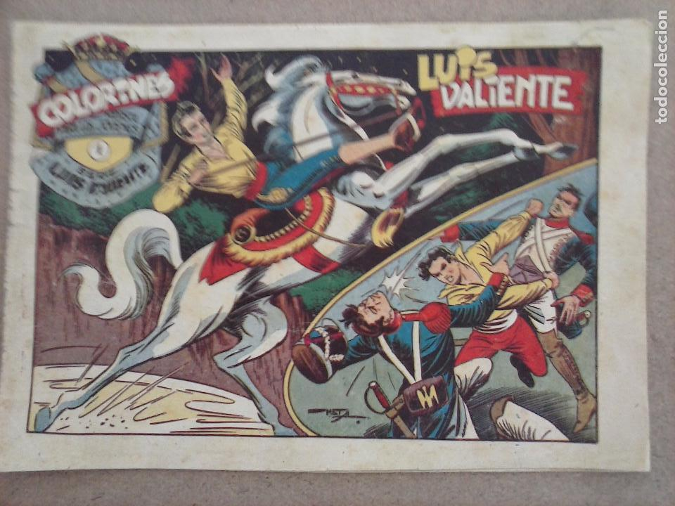 Tebeos: LUIS VALIENTE ORIGINAL COMPLETA - 1 AL 24 GRAFIDEA 1957, VER TODAS LAS PORTADAS - Foto 10 - 105121827