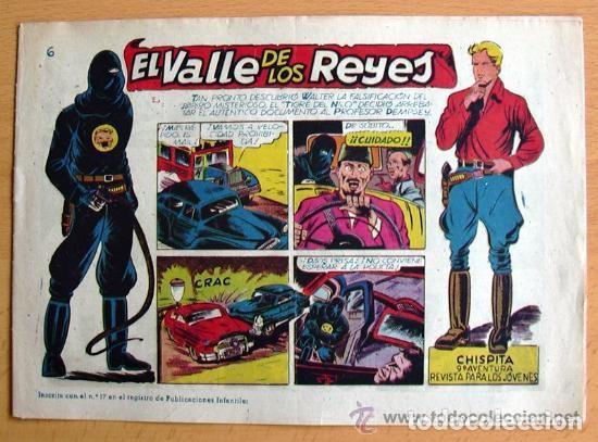 CHISPITA 9ª AVENTURA, Nº 6 EL VALLE DE LOS REYES - EDITORIAL GRAFIDEA 1957 (Tebeos y Comics - Grafidea - Chispita)