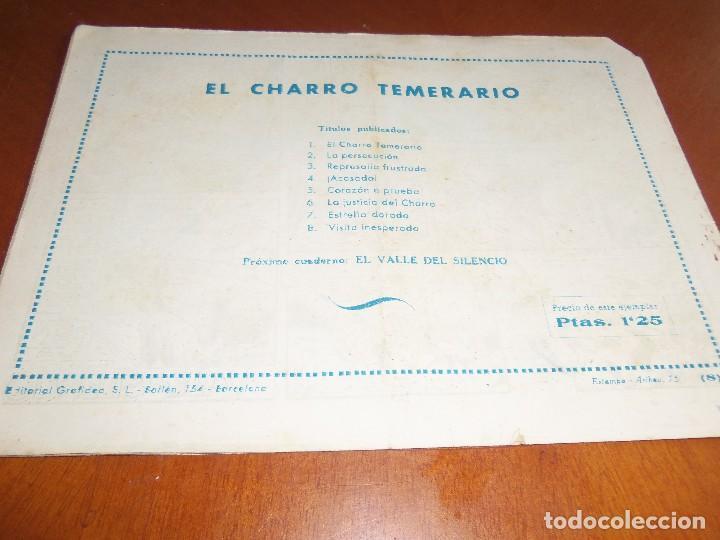 Tebeos: EL CHARRO TEMERARIO--Nº 8--ORIGINAL - Foto 2 - 119944511