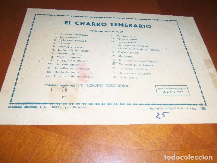 Tebeos: EL CHARRO TEMERARIO--Nº 25--ORIGINAL - Foto 2 - 119950199