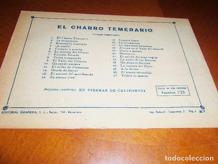 Tebeos: EL CHARRO TEMERARIO -Nº 27--ORIGINAL - Foto 2 - 119950547