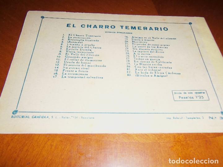 Tebeos: EL CHARRO TEMERARIO -Nº 33--ORIGINAL - Foto 2 - 119950907