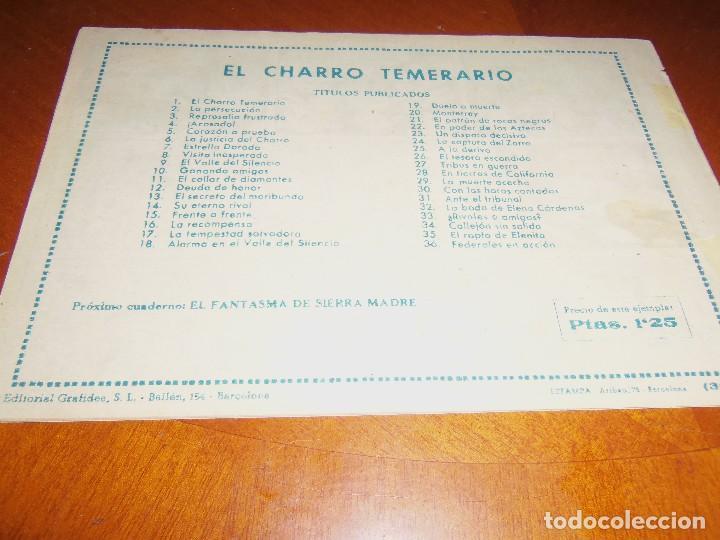 Tebeos: EL CHARRO TEMERARIO--Nº 36--ORIGINAL - Foto 2 - 119963255