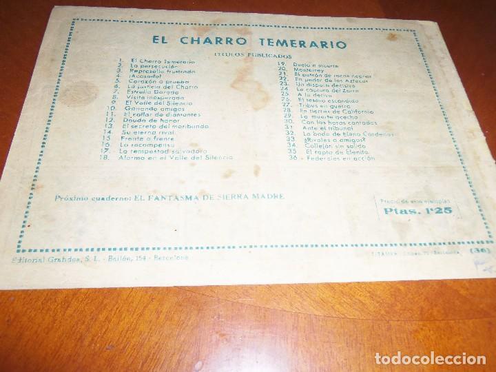 Tebeos: EL CHARRO TEMERARIO-Nº 36--ORIGINAL - Foto 2 - 119963427