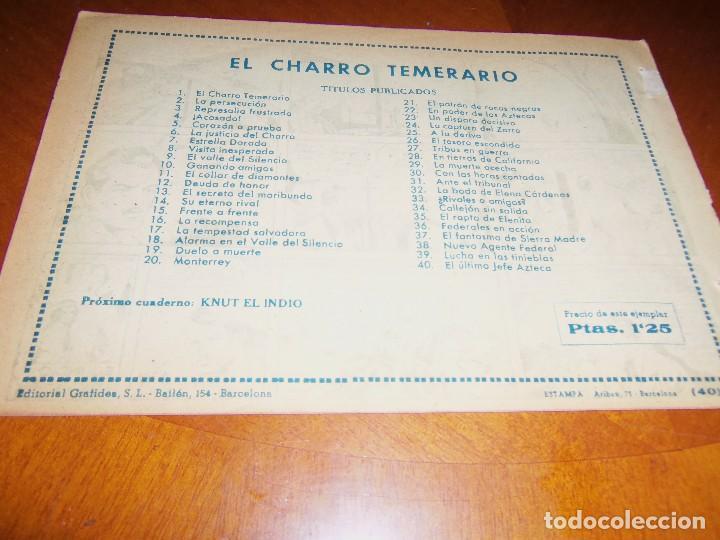 Tebeos: EL CHARRO TEMERARIO--Nº 40--ORIGINAL- - Foto 2 - 119963843