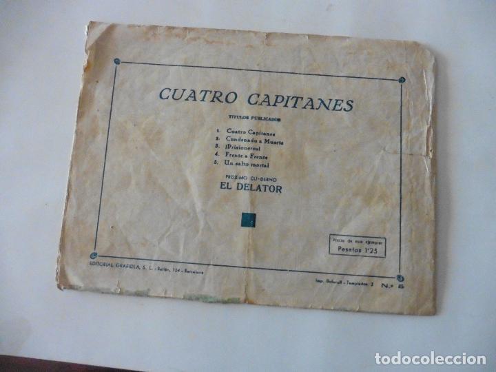 Tebeos: CUATRO CAPITANES Nº 5 ORIGINAL - Foto 2 - 121262211