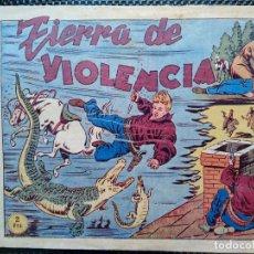 Tebeos: COMIC TIERRA DE VIOLENCIA Nº5 - EDT, GRAFIDEA 1948 - ORIGINAL ( M-2). Lote 121651119