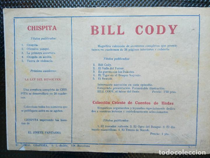 Tebeos: COMIC TIERRA DE VIOLENCIA Nº5 - EDT, GRAFIDEA 1948 - ORIGINAL ( M-2) - Foto 2 - 121651119