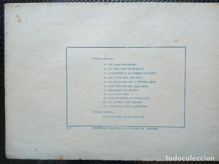 Tebeos: COMIC CASIANO Y LOS GANGSTERS Nº 11-ORIGINAL - EDT. GRAFIDEA ( M-2) - Foto 2 - 121688427