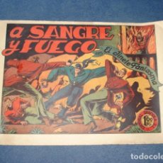 Tebeos: EL JINETE FANTASMA 19: A SANGRE Y FUEGO, 1947, ORIGINAL, GRAFIDEA. Lote 129134511