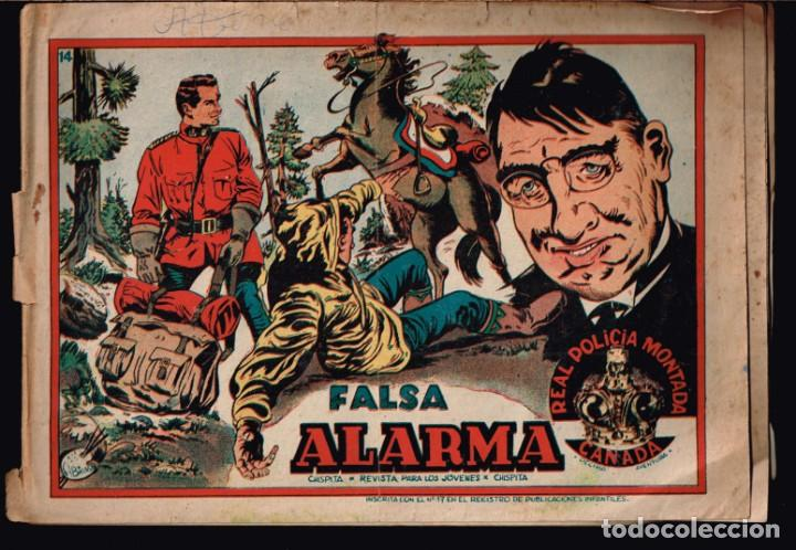 REAL POLICIA MONTADA DEL CANADA. DECIMA AVENTURA Nº-14 FALSA ALARMA. CHISPITA. 1954 (Tebeos y Comics - Grafidea - Chispita)