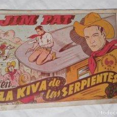Tebeos: JIM PAT LA KIVA DE LAS SERPIENTES EDITORIAL GRAFIDEA 1940. Lote 140053190