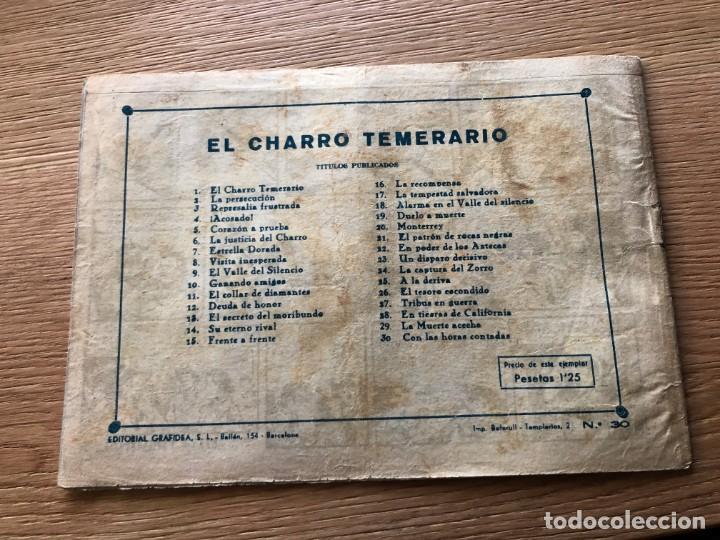 Tebeos: Nº 30 EL CHARRO TEMERARIO, HORAS CONTADAS, ED GRAFIDEA 1953,CAJA/02 - Foto 2 - 142065574