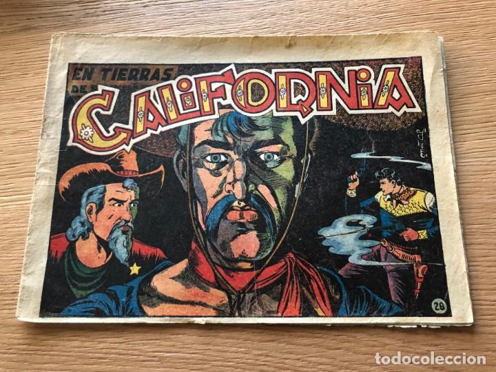 Nº 28, EL CHARRO TEMERARIO, EN TIERRAS DE CALIFORNIA, ED GRAFIDEA 1953, CAJA/02 (Tebeos y Comics - Grafidea - El Charro Temerario)