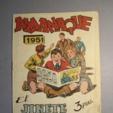 BDs: JINETE FANTASMA, EL (1947, GRAFIDEA) -EL CABALLERO FANTASMA- EXTRA 5 · 1950 · ALMANAQUE 1951. Lote 145822762