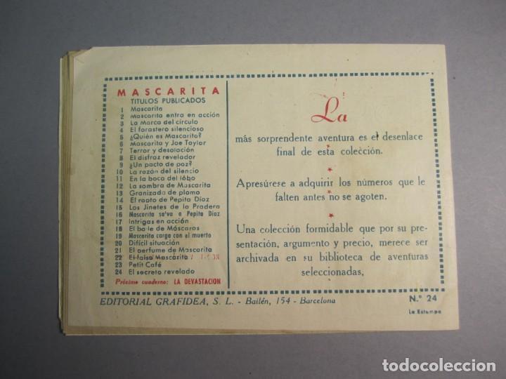 Tebeos: MASCARITA (1949, GRAFIDEA) 24 · 1949 · EL SECRETO REVELADO - Foto 2 - 145871406