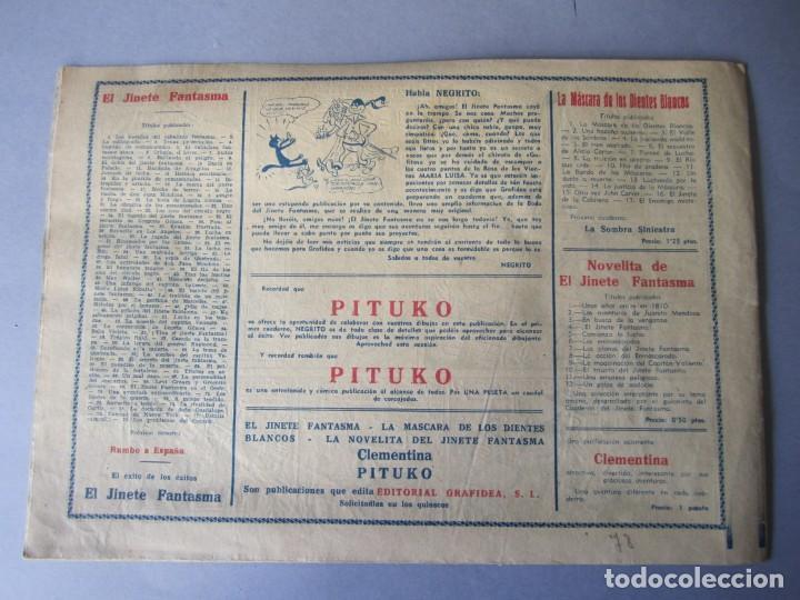 Tebeos: JINETE FANTASMA, EL (1947, GRAFIDEA) -EL CABALLERO FANTASMA- 78 · 1947 · LOS PROBLEMAS DEL CANARIO - Foto 2 - 146396574