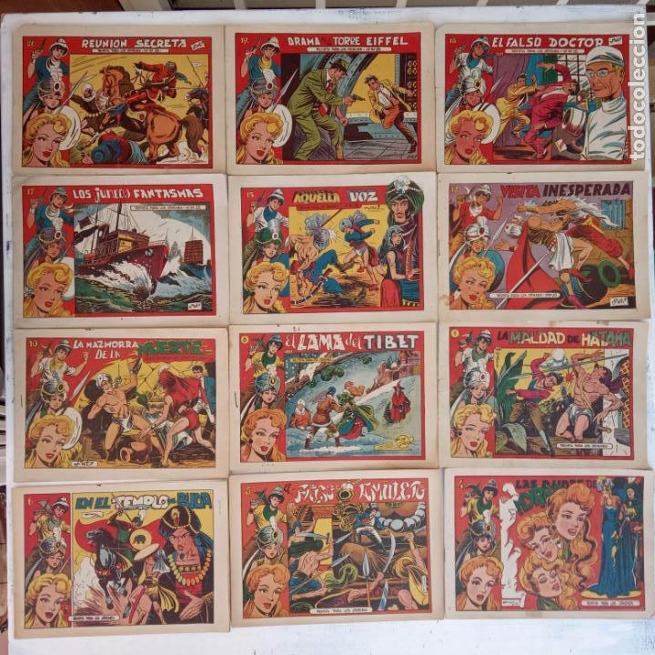 EL AMULETO VERDE - ORIGINALES MAGNÍFICO ESTADO - 4,5,6,7,8,10,12,15,17,18,19,20 GRAFIDEA 1956 (Tebeos y Comics - Grafidea - El Charro Temerario)