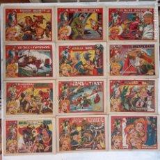 Tebeos: EL AMULETO VERDE - ORIGINALES MAGNÍFICO ESTADO - 4,5,6,7,8,10,12,15,17,18,19,20 GRAFIDEA 1956. Lote 152354078
