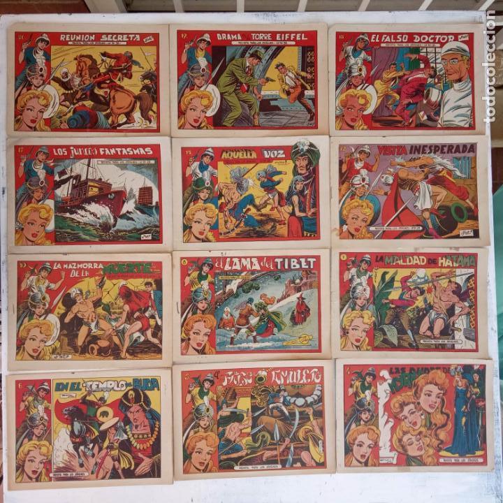 Tebeos: EL AMULETO VERDE - ORIGINALES MAGNÍFICO ESTADO - 4,5,6,7,8,10,12,15,17,18,19,20 GRAFIDEA 1956 - Foto 2 - 152354078