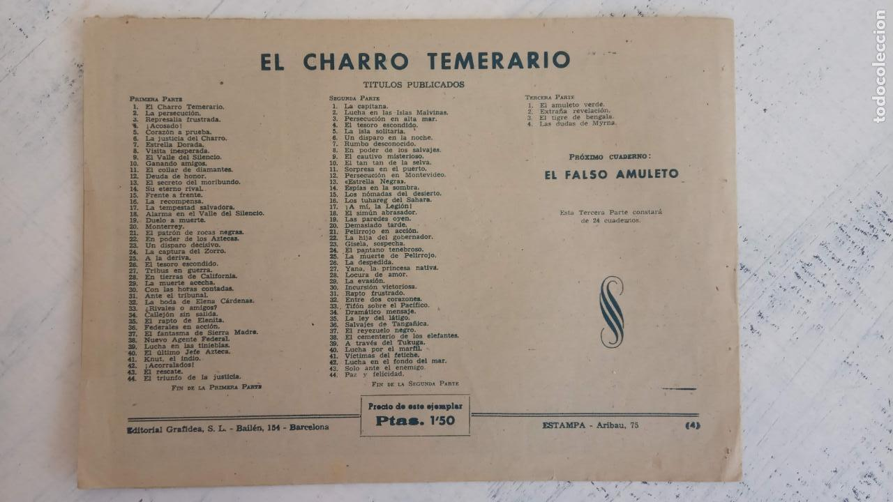 Tebeos: EL AMULETO VERDE - ORIGINALES MAGNÍFICO ESTADO - 4,5,6,7,8,10,12,15,17,18,19,20 GRAFIDEA 1956 - Foto 4 - 152354078