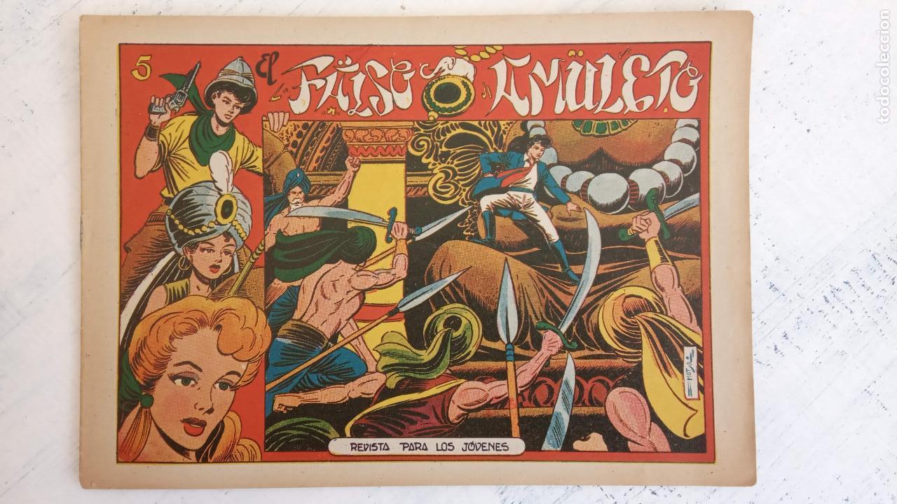 Tebeos: EL AMULETO VERDE - ORIGINALES MAGNÍFICO ESTADO - 4,5,6,7,8,10,12,15,17,18,19,20 GRAFIDEA 1956 - Foto 5 - 152354078