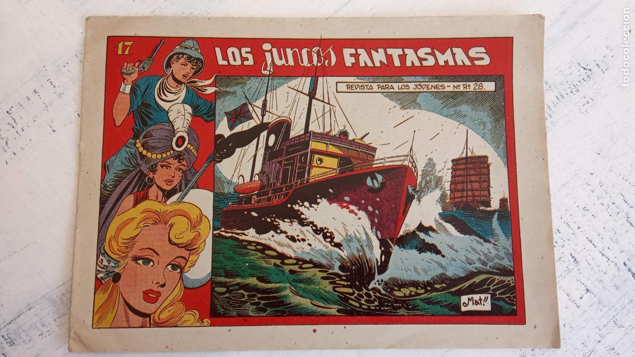 Tebeos: EL AMULETO VERDE - ORIGINALES MAGNÍFICO ESTADO - 4,5,6,7,8,10,12,15,17,18,19,20 GRAFIDEA 1956 - Foto 19 - 152354078