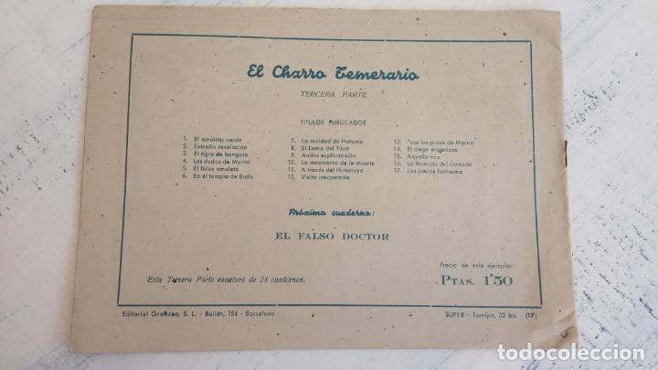 Tebeos: EL AMULETO VERDE - ORIGINALES MAGNÍFICO ESTADO - 4,5,6,7,8,10,12,15,17,18,19,20 GRAFIDEA 1956 - Foto 20 - 152354078