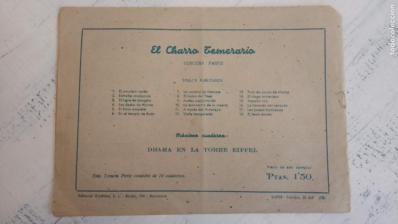 Tebeos: EL AMULETO VERDE - ORIGINALES MAGNÍFICO ESTADO - 4,5,6,7,8,10,12,15,17,18,19,20 GRAFIDEA 1956 - Foto 22 - 152354078