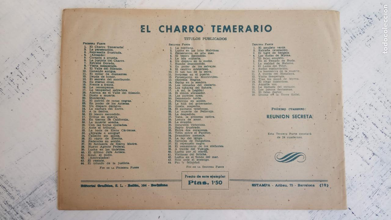 Tebeos: EL AMULETO VERDE - ORIGINALES MAGNÍFICO ESTADO - 4,5,6,7,8,10,12,15,17,18,19,20 GRAFIDEA 1956 - Foto 24 - 152354078