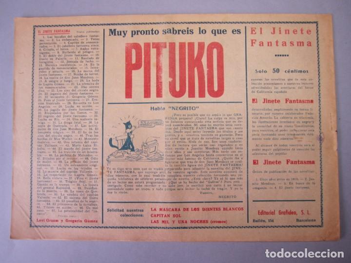 Tebeos: JINETE FANTASMA, EL (1947, GRAFIDEA) - 67 · 1947 · LA PERSONALIDAD DEL CANARIO - Foto 2 - 155874058