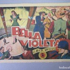 Tebeos: JINETE FANTASMA, EL (1947, GRAFIDEA) -EL CABALLERO FANTASMA- 54 · 1947 · BELLA VIOLETA. Lote 155874190