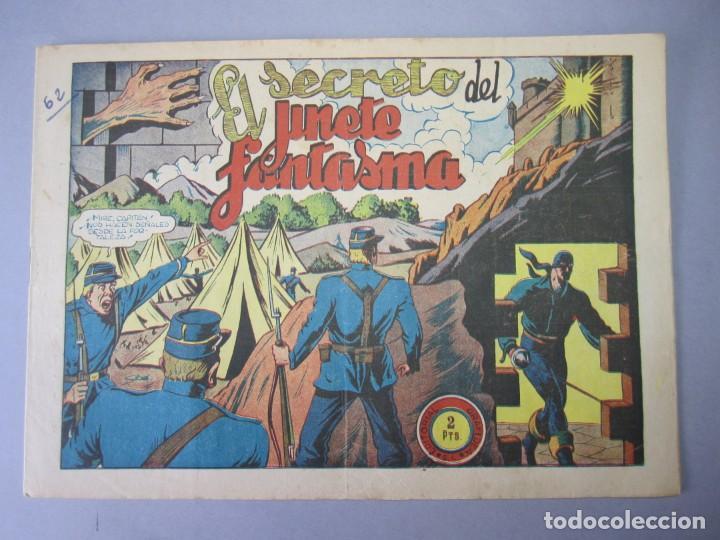 JINETE FANTASMA, EL (1947, GRAFIDEA) -EL CABALLERO FANTASMA- 62 · 1947 · EL SECRETO DEL JINETE FANTA (Tebeos y Comics - Grafidea - El Jinete Fantasma)