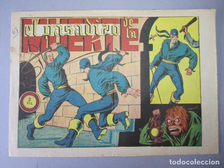 JINETE FANTASMA, EL (1947, GRAFIDEA) -EL CABALLERO FANTASMA- 63 · 1947 · EL PASADIZO DE LA MUERTE (Tebeos y Comics - Grafidea - El Jinete Fantasma)